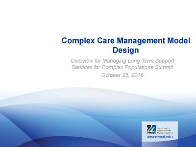Complex Care Management Model Design